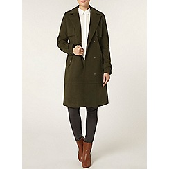 Dorothy Perkins - Olive d ring trench coat