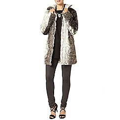 Dorothy Perkins - Ivory animal faux fur coat