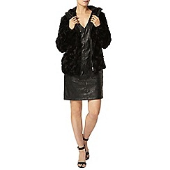 Dorothy Perkins - Black faux fur short coat