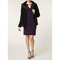 Dorothy Perkins - Tall black faux fur coat