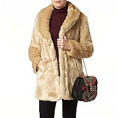 Dorothy Perkins - Blonde plush faux fur coat