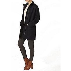 Dorothy Perkins - Navy funnel coat