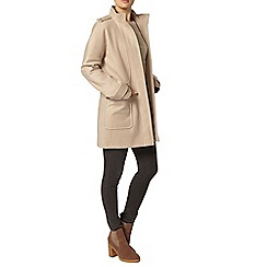 Dorothy Perkins - Blonde funnel coat