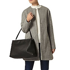 Dorothy Perkins - Grey bonded collarless coat