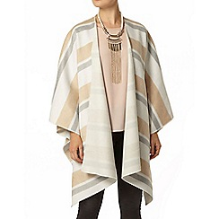 Dorothy Perkins - Camel and ivory stripe cape