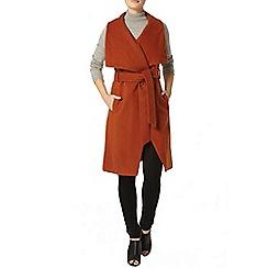 Dorothy Perkins - Brick sleeveless wrap coat