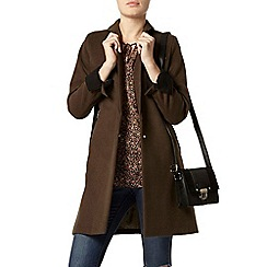 Dorothy Perkins - Khaki colour block coat