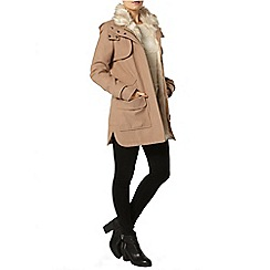 Dorothy Perkins - Blonde luxe parka coat