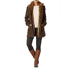 Dorothy Perkins - Khaki luxe parka coat