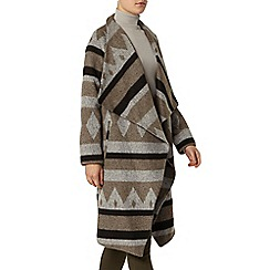Dorothy Perkins - Grey and camel waterfall coat