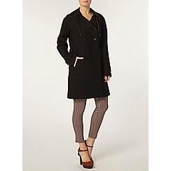 Dorothy Perkins - Black bonded trench coat