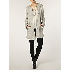 Dorothy Perkins - Grey bonded jersey coat