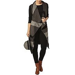 Dorothy Perkins - Grey belted sleeveless coat