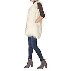 Dorothy Perkins - Cream plush fur gillet
