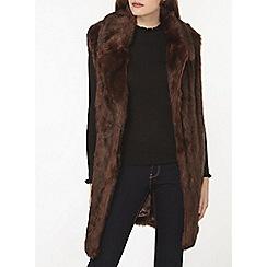 Dorothy Perkins - Chocolate shawl collar gilet