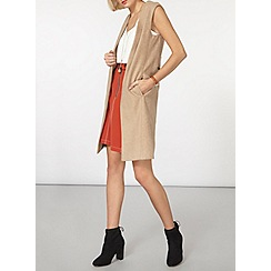 Dorothy Perkins - Camel sleeveless coat