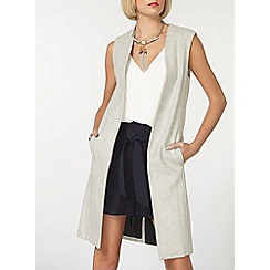 Dorothy Perkins - Grey sleeveless coat