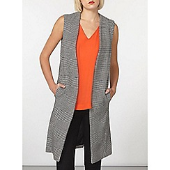 Dorothy Perkins - Monochrome textured sleeveless gilet