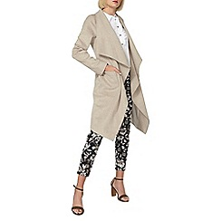 Dorothy Perkins - Oatmeal drawn waterfall coat