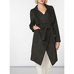Dorothy Perkins - Khaki drawn waterfall coat