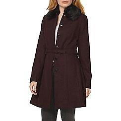 Dorothy Perkins - Red faux fur port lady coat