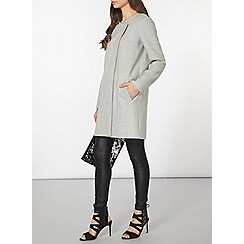 Dorothy Perkins - Grey and camel wrap coat