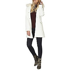 Dorothy Perkins - White luxe duffle coat
