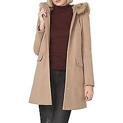Dorothy Perkins - Camel luxe duffle coat