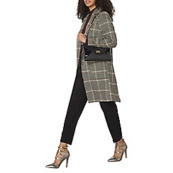Dorothy Perkins - Grey and camel pow check coat