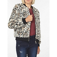 Dorothy Perkins - Animal faux fur bomber jacket