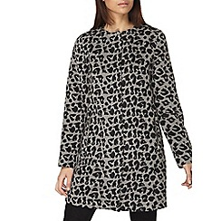 Dorothy Perkins - Animal wool collarless coat