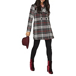 Dorothy Perkins - Red check dolly coat
