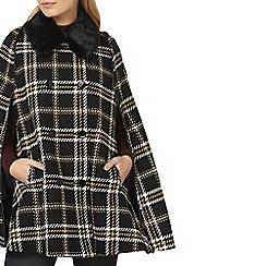 Dorothy Perkins - Black and yellow check cape