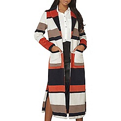 Dorothy Perkins - Orange stripe maxi coat