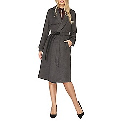 Dorothy Perkins - Charcoal and black trench coat