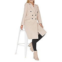 Dorothy Perkins - Blush double breasted coat