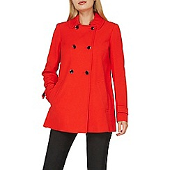 Dorothy Perkins - Red double breasted swing coat