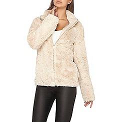 Dorothy Perkins - **tall cream faux fur coat