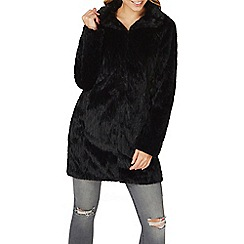 Dorothy Perkins - Black faux fur coat