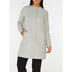 Dorothy Perkins - Grey and blush collarless coat
