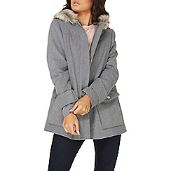Dorothy Perkins - Grey utility duffle coat