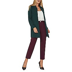 Dorothy Perkins - Green notch neck coat