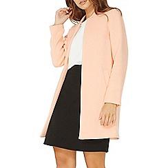 Dorothy Perkins - Apricot notch neck coat