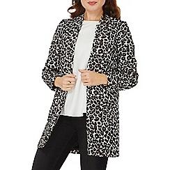 Dorothy Perkins - Leopard print notch neck coat