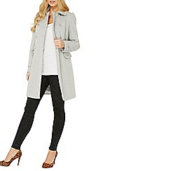 Dorothy Perkins - Grey button dolly double breasted coat