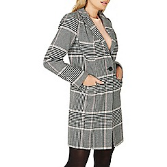 Dorothy Perkins - Multi checked button coat