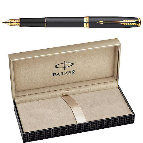 Parker - Matte black gold +sonnet 08+ fountain pen