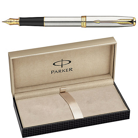 Parker - Stainless steel gold +sonnet 08+ fountain pen