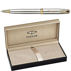 Parker - Stainless steel gold 'sonnet'; ball pen