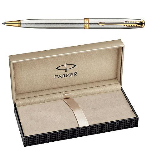 Parker - Stainless steel gold +sonnet++ ball pen